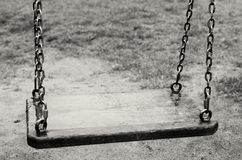 κενή ταλάντευση Το χαμένο παιδί Γραπτή εικόνα Στοκ Εικόνα