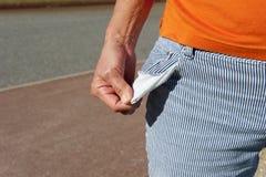 κενή τσέπη χρημάτων έξω Στοκ εικόνες με δικαίωμα ελεύθερης χρήσης