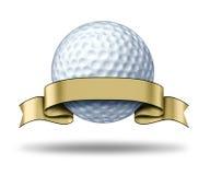 κενή χρυσή ετικέτα γκολφ &b ελεύθερη απεικόνιση δικαιώματος