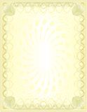 κενή χρυσή πολυτέλεια Στοκ φωτογραφία με δικαίωμα ελεύθερης χρήσης