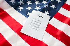 Κενή ψήφος ή ψηφοφορία για τη αμερικανική σημαία Στοκ φωτογραφίες με δικαίωμα ελεύθερης χρήσης