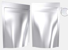Κενή resealable μόνιμη πλαστική τσάντα φύλλων αλουμινίου ελεύθερη απεικόνιση δικαιώματος