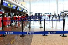 Κενοί μετρητές εισόδου στον αερολιμένα στοκ εικόνα με δικαίωμα ελεύθερης χρήσης