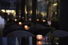 Κενοί πίνακες φραγμών το βράδυ Στοκ φωτογραφία με δικαίωμα ελεύθερης χρήσης