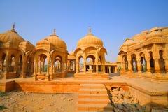 Κενοτάφια Bada Bagh σε Jaisalmer Στοκ εικόνα με δικαίωμα ελεύθερης χρήσης