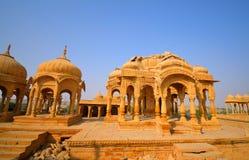Κενοτάφια Bada Bagh σε Jaisalmer Στοκ Φωτογραφίες