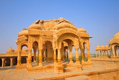 Κενοτάφια Bada Bagh σε Jaisalmer Στοκ φωτογραφία με δικαίωμα ελεύθερης χρήσης