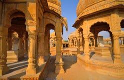Κενοτάφια Bada Bagh σε Jaisalmer Στοκ Εικόνες