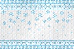 Κεντημένος αριθμός σταυρός σε ένα τραχύ ύφασμα Snowflakes και σχέδια επίσης corel σύρετε το διάνυσμα απεικόνισης ελεύθερη απεικόνιση δικαιώματος