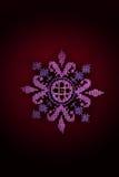 Κεντημένο ρόδινο λουλούδι Στοκ εικόνες με δικαίωμα ελεύθερης χρήσης