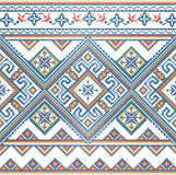 Κεντημένο χειροποίητο σχέδιο της Ουκρανίας Απεικόνιση αποθεμάτων
