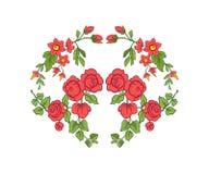 Κεντητική για τη γραμμή περιλαίμιων Floral διακόσμηση στο εκλεκτής ποιότητας ύφος Στοκ φωτογραφία με δικαίωμα ελεύθερης χρήσης