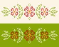 Κεντητική διαγώνιος-βελονιών στο ουκρανικό ύφος Στοκ Εικόνα