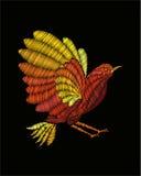 Κεντητική πουλιών φαντασίας Στοκ Φωτογραφίες