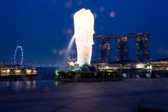 Κεντρικά επιχειρησιακά κτήρια άποψης και ορόσημα της Σιγκαπούρης Στοκ Εικόνες