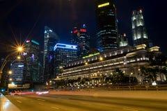 Κεντρικά επιχειρησιακά κτήρια άποψης και ορόσημα της Σιγκαπούρης Στοκ Εικόνα
