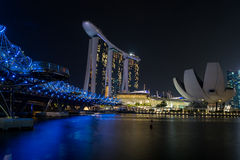 Κεντρικά επιχειρησιακά κτήρια άποψης και ορόσημα της Σιγκαπούρης Στοκ Φωτογραφία