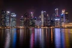 Κεντρικά επιχειρησιακά κτήρια άποψης και ορόσημα της Σιγκαπούρης Στοκ εικόνα με δικαίωμα ελεύθερης χρήσης