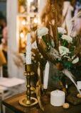 Κεντρικά τεμάχια γαμήλιων πινάκων Στοκ φωτογραφία με δικαίωμα ελεύθερης χρήσης
