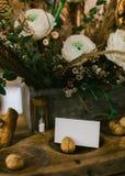 Κεντρικά τεμάχια γαμήλιων πινάκων Στοκ Εικόνες