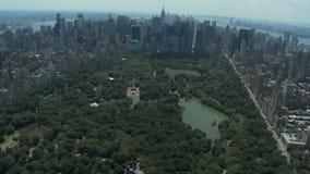 Κεντρικές πάρκο και nyc κεραία απόθεμα βίντεο