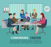 Κεντρική έννοια Coworking ελεύθερη απεικόνιση δικαιώματος