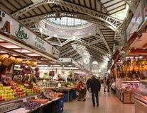 Κεντρική αγορά - Mercado κεντρικό Plaza Ciudad de Brujas, Βαλένθια Στοκ φωτογραφία με δικαίωμα ελεύθερης χρήσης