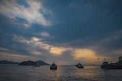 Κεντρική αποβάθρα του Χογκ Κογκ στοκ φωτογραφία