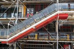 Κεντρική αρχιτεκτονική του Παρισιού Πομπιντού Στοκ φωτογραφία με δικαίωμα ελεύθερης χρήσης