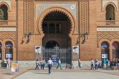 Κεντρική είσοδος του χώρου Las Ventas, Μαδρίτη Στοκ Φωτογραφίες