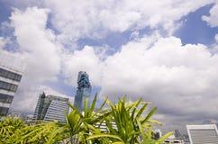 Κεντρική επιχείρηση πόλεων πύργων Mahanakorn της Μπανγκόκ, περιοχή Silom, BA Στοκ Εικόνα
