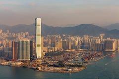 Κεντρική επιχείρηση πόλεων Χονγκ Κονγκ κεντρικός Στοκ Εικόνες