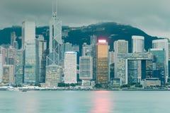 Κεντρική επιχείρηση Χονγκ Κονγκ στο κέντρο της πόλης Στοκ φωτογραφίες με δικαίωμα ελεύθερης χρήσης