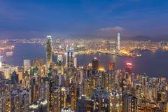 Κεντρική επιχείρηση Χονγκ Κονγκ στο κέντρο της πόλης Στοκ Φωτογραφίες