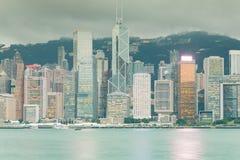 Κεντρική επιχειρησιακή περιοχή κτιρίου γραφείων πόλεων Χονγκ Κονγκ Στοκ Εικόνες