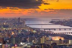 Κεντρική επιχειρησιακή περιοχή πόλεων της Οζάκα Στοκ φωτογραφία με δικαίωμα ελεύθερης χρήσης