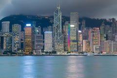 Κεντρική επιχειρησιακή στο κέντρο της πόλης προκυμαία πόλεων Χονγκ Κονγκ Στοκ Εικόνα