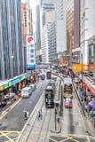 Κεντρική περιοχή ορόσημων Χονγκ Κονγκ Στοκ Εικόνες