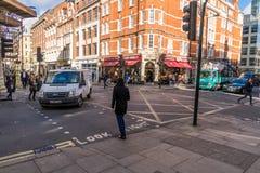 Κεντρική σκηνή οδών του Λονδίνου Στοκ Εικόνες