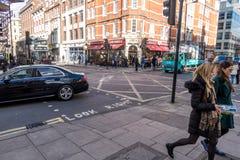 Κεντρική σκηνή οδών του Λονδίνου Στοκ φωτογραφίες με δικαίωμα ελεύθερης χρήσης