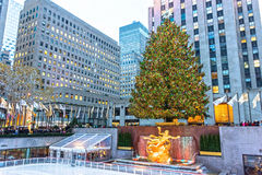 Κεντρική σκηνή Rockefeller Στοκ εικόνα με δικαίωμα ελεύθερης χρήσης