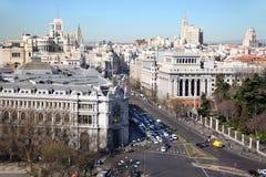 Κεντρική τράπεζα της Ισπανίας σε Gran μέσω της οδού στοκ εικόνα με δικαίωμα ελεύθερης χρήσης