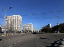 Κεντρική τράπεζα της Ρωσικής Ομοσπονδίας (τράπεζα της Ρωσίας) Zhitnaya ST 12, Μόσχα, Ρωσία Στοκ εικόνα με δικαίωμα ελεύθερης χρήσης