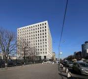 Κεντρική τράπεζα της Ρωσικής Ομοσπονδίας (τράπεζα της Ρωσίας) Zhitnaya ST 12, Μόσχα, Ρωσία Στοκ Εικόνες