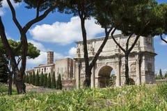 Κεντρική archeological περιοχή της Ρώμης Στοκ φωτογραφία με δικαίωμα ελεύθερης χρήσης