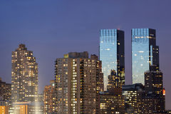 Κεντρικοί δίδυμοι πύργοι της Time Warner Στοκ Φωτογραφία
