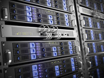 κεντρικοί υπολογιστές υπολογιστών Στοκ φωτογραφία με δικαίωμα ελεύθερης χρήσης