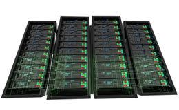 κεντρικοί υπολογιστές wireframe Στοκ Εικόνες