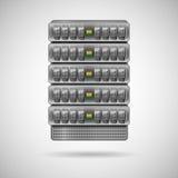 Κεντρικοί υπολογιστές που εγκαθίστανται στο ράφι ελεύθερη απεικόνιση δικαιώματος