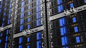 Κεντρικοί υπολογιστές ραφιών υπολογιστών ελεύθερη απεικόνιση δικαιώματος